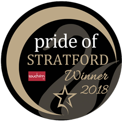 Pride of Stratford Winners 2018 logo